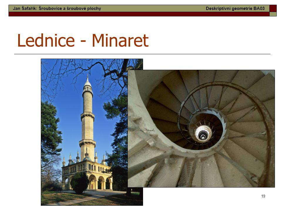 Lednice - Minaret Jan Šafařík: Šroubovice a šroubové plochy
