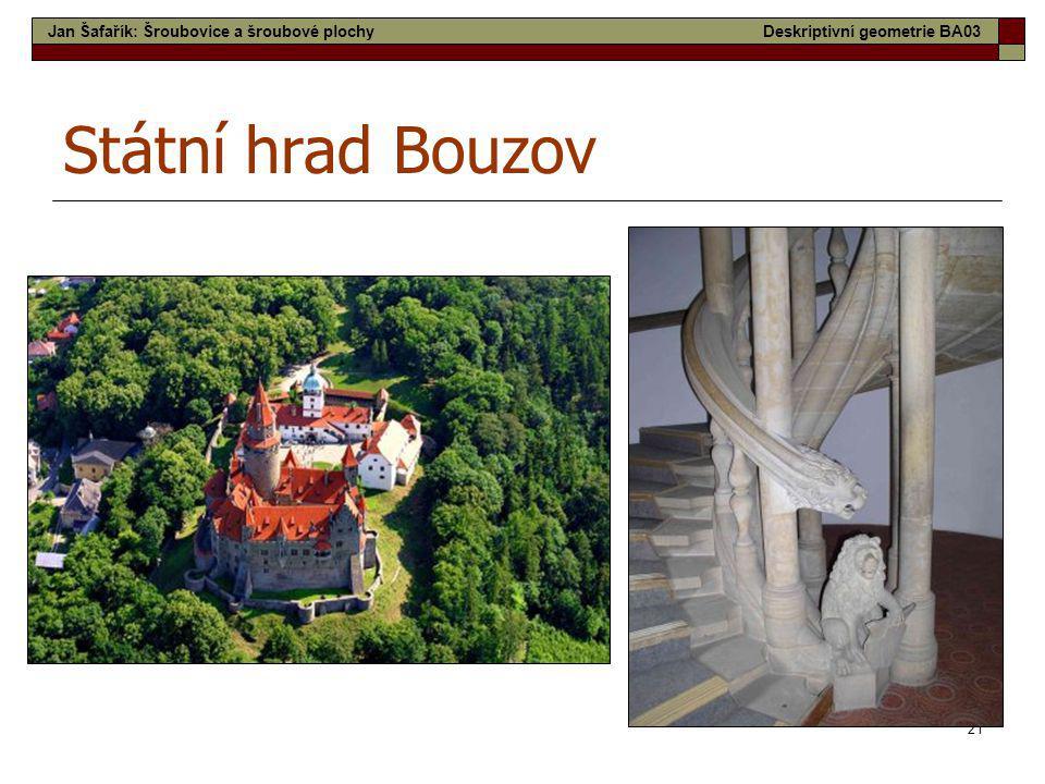 Státní hrad Bouzov Jan Šafařík: Šroubovice a šroubové plochy