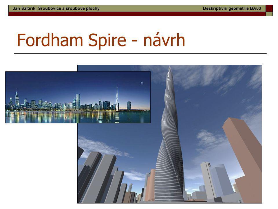Fordham Spire - návrh Jan Šafařík: Šroubovice a šroubové plochy