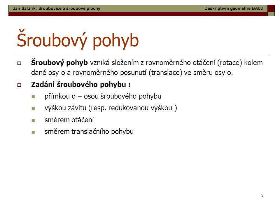 Jan Šafařík: Šroubovice a šroubové plochy