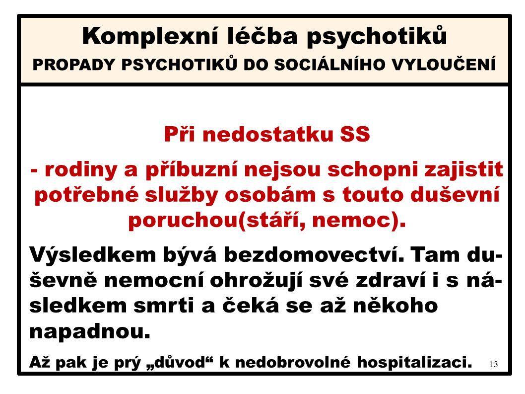 Komplexní léčba psychotiků Komplexní léčba psychotiků