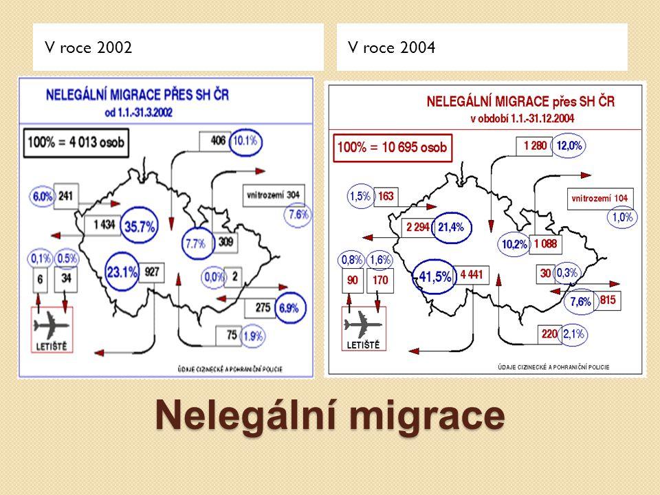 V roce 2002 V roce 2004 Nelegální migrace