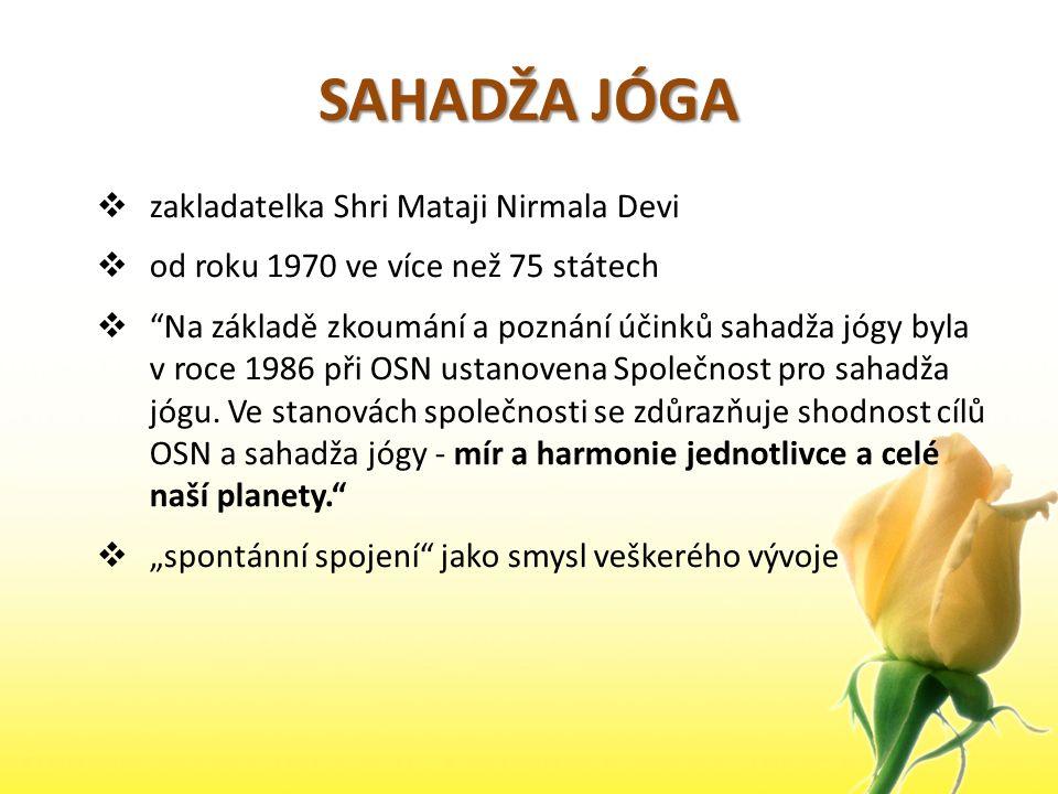 SAHADŽA JÓGA zakladatelka Shri Mataji Nirmala Devi