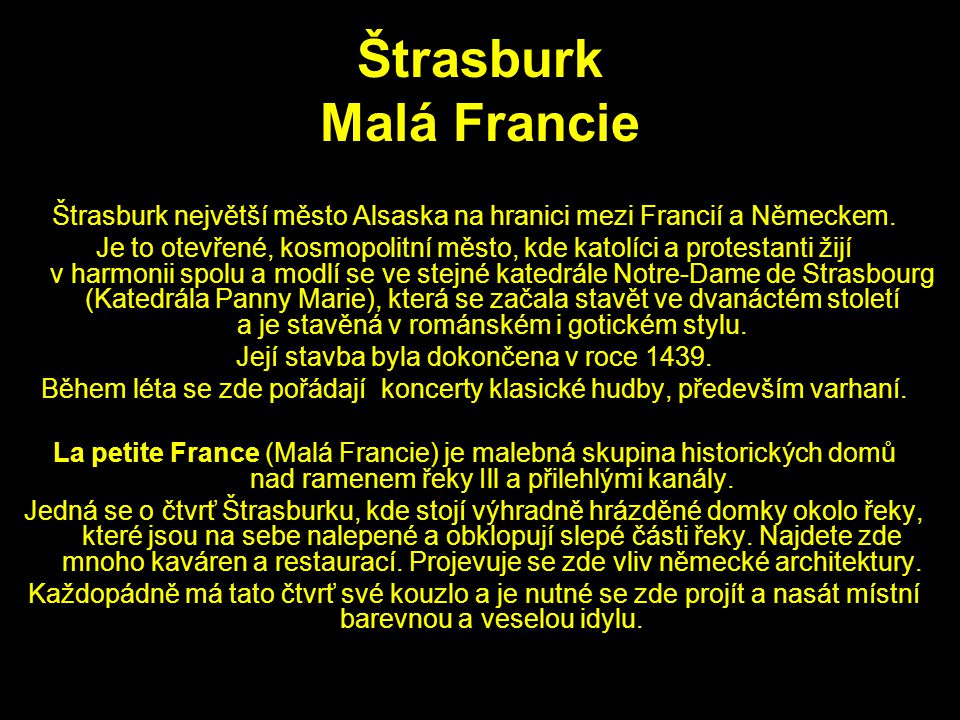 Štrasburk Malá Francie