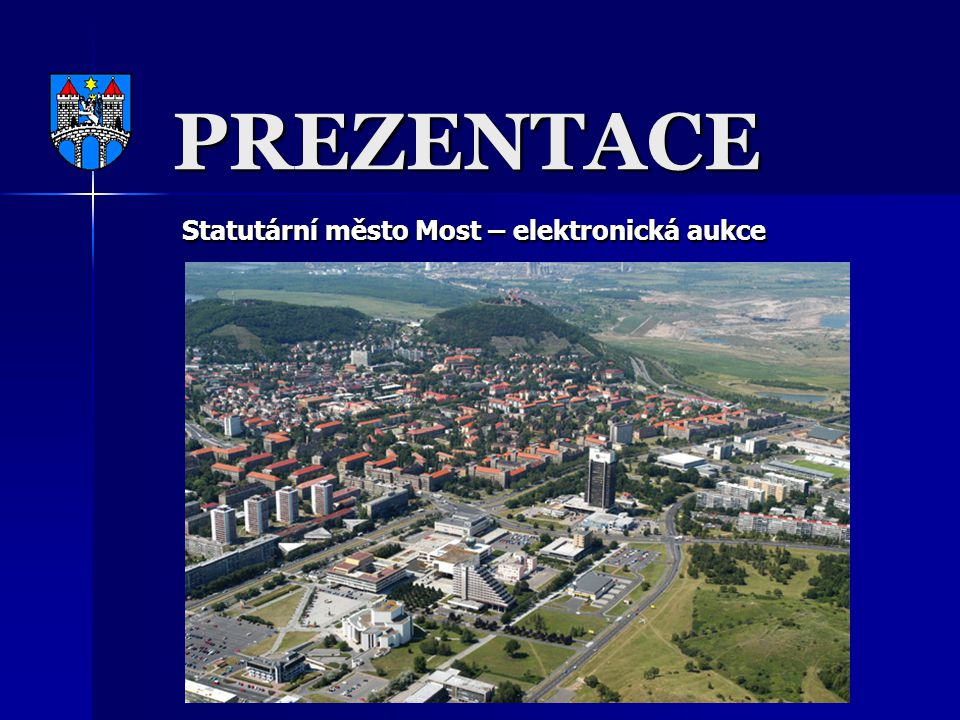 Statutární město Most – elektronická aukce