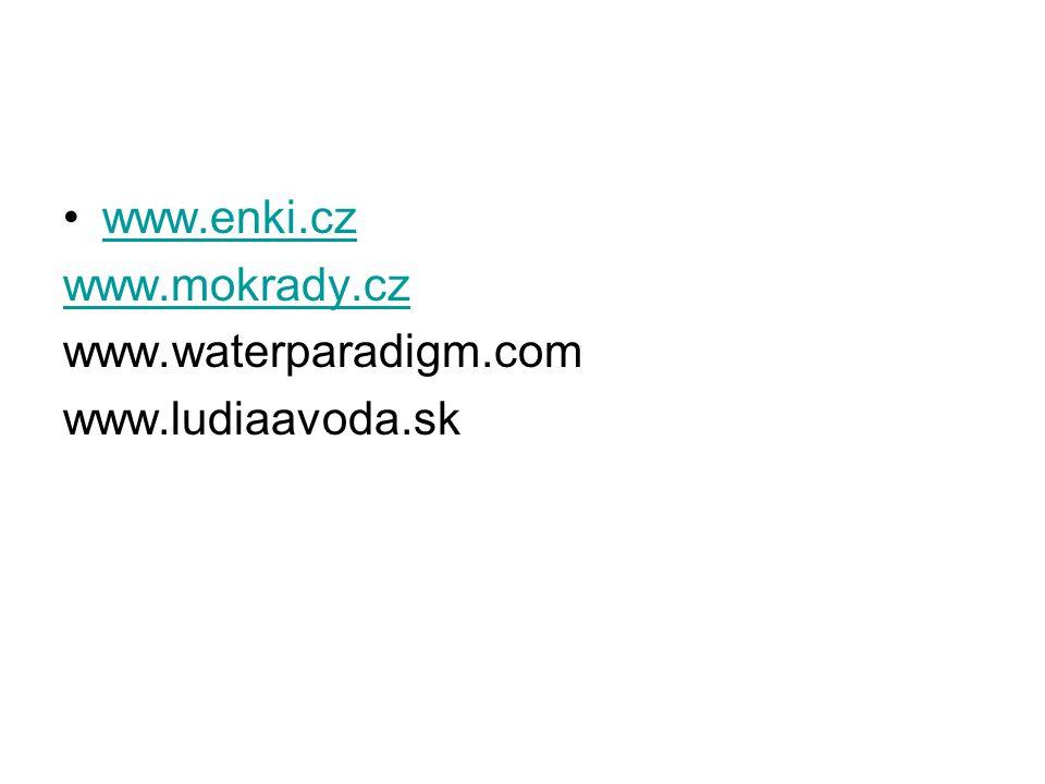 www.enki.cz www.mokrady.cz www.waterparadigm.com www.ludiaavoda.sk