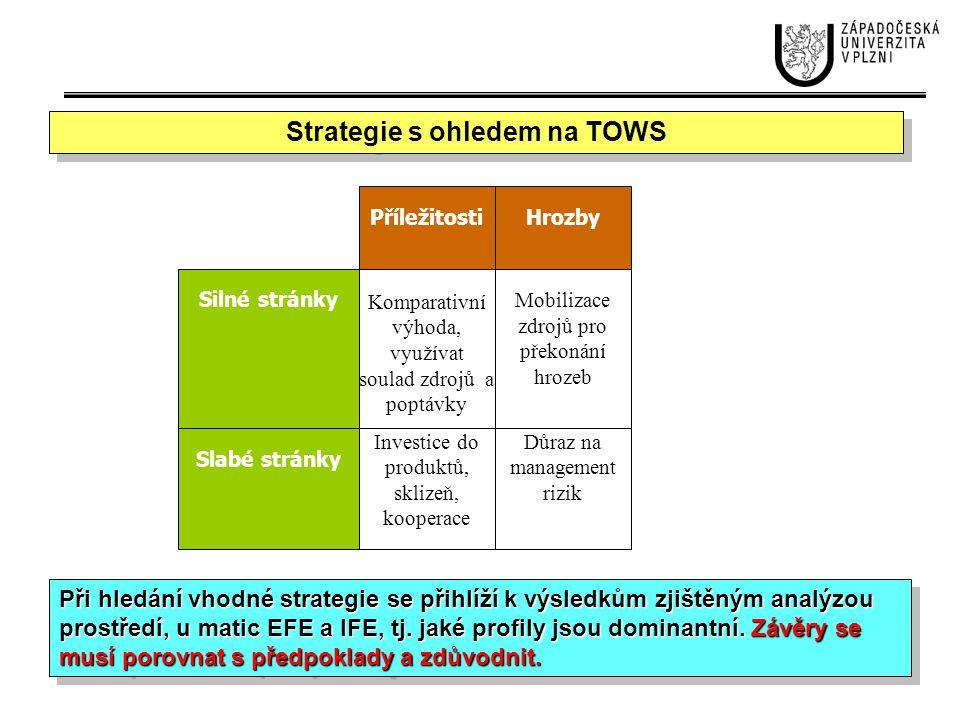 Strategie s ohledem na TOWS