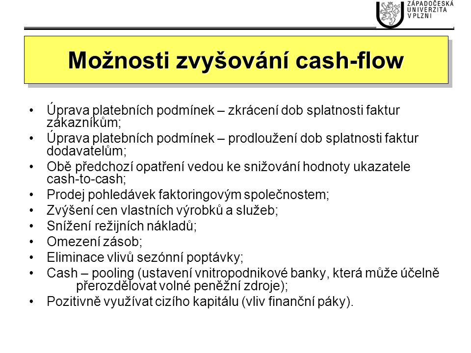 Možnosti zvyšování cash-flow