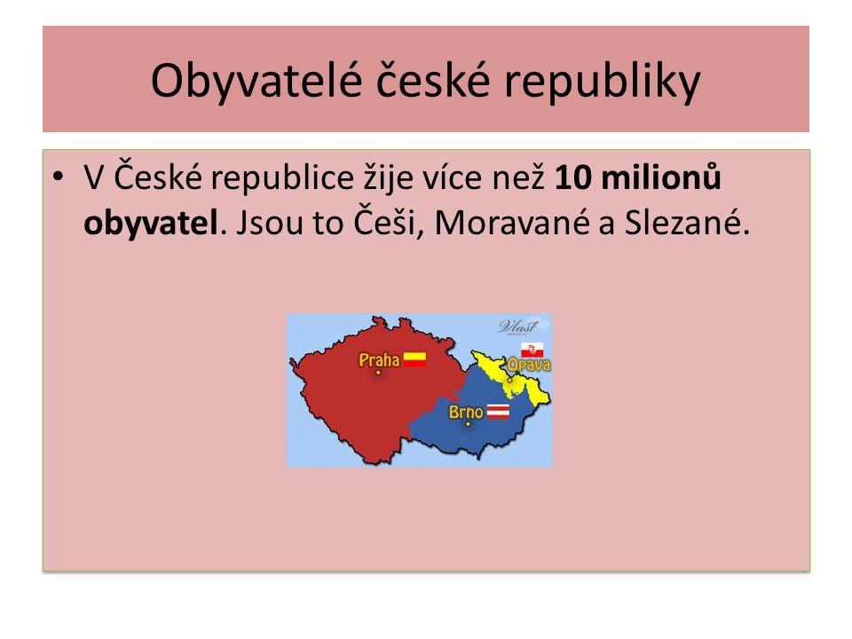Obyvatelé české republiky