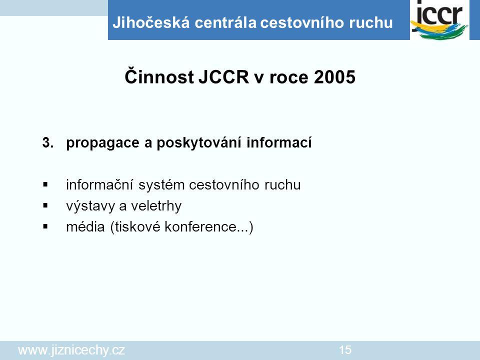 Činnost JCCR v roce 2005 informační systém cestovního ruchu