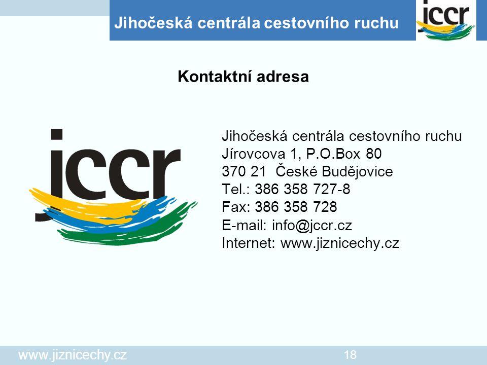 Kontaktní adresa Jihočeská centrála cestovního ruchu