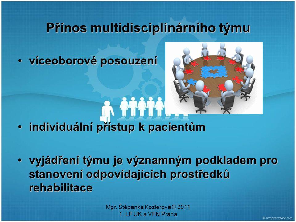 Přínos multidisciplinárního týmu