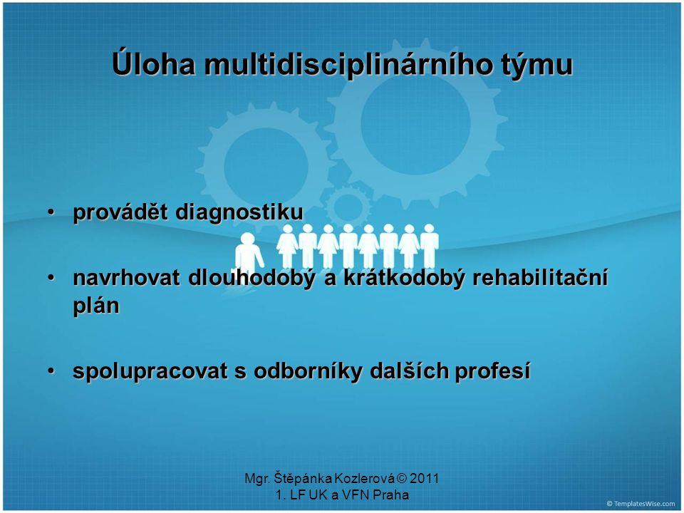 Úloha multidisciplinárního týmu