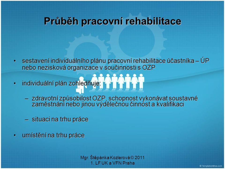 Průběh pracovní rehabilitace