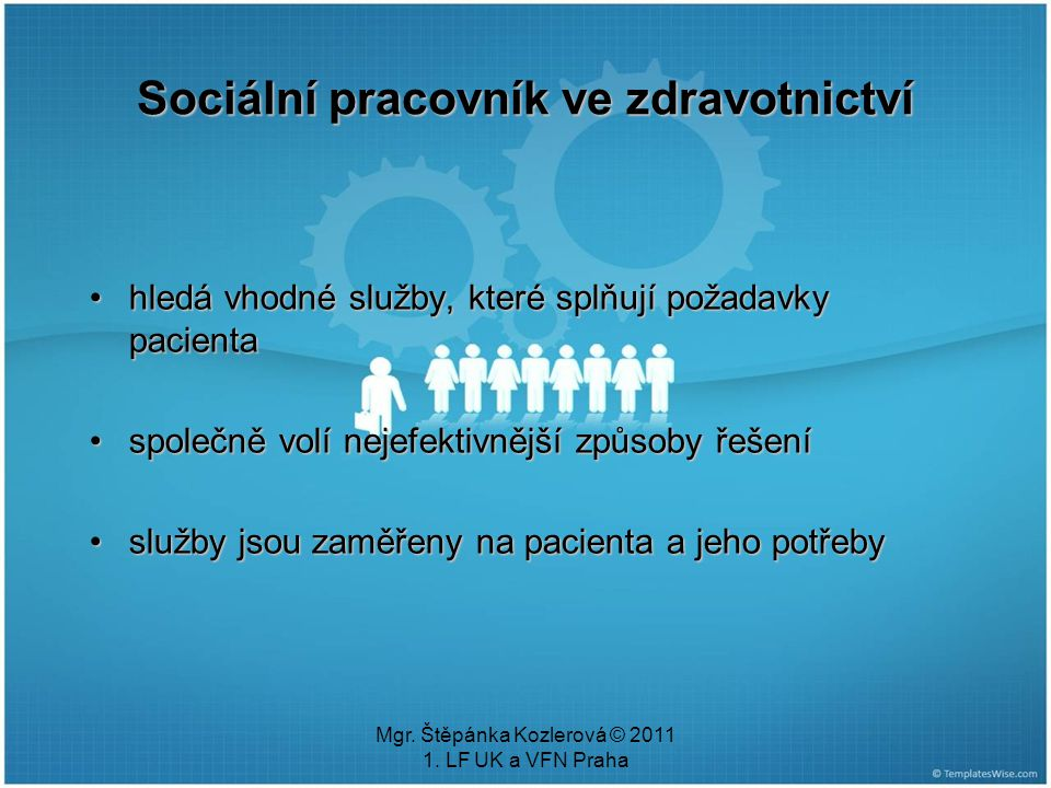 Sociální pracovník ve zdravotnictví