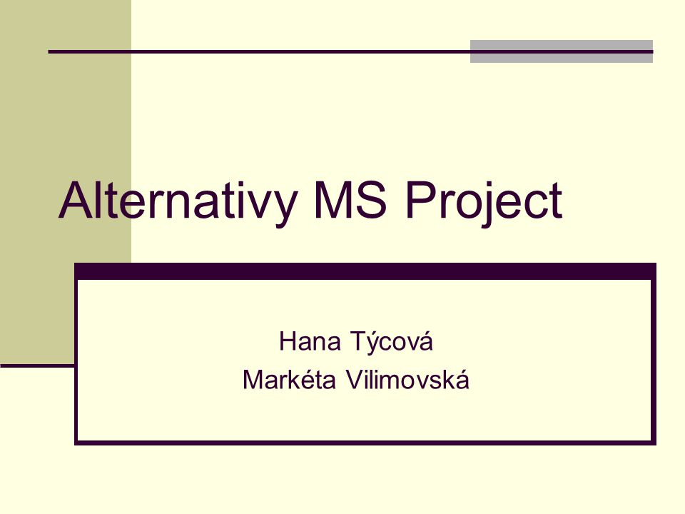Alternativy MS Project