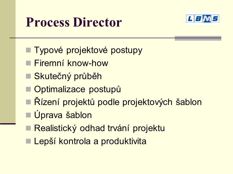 Process Director Typové projektové postupy Firemní know-how