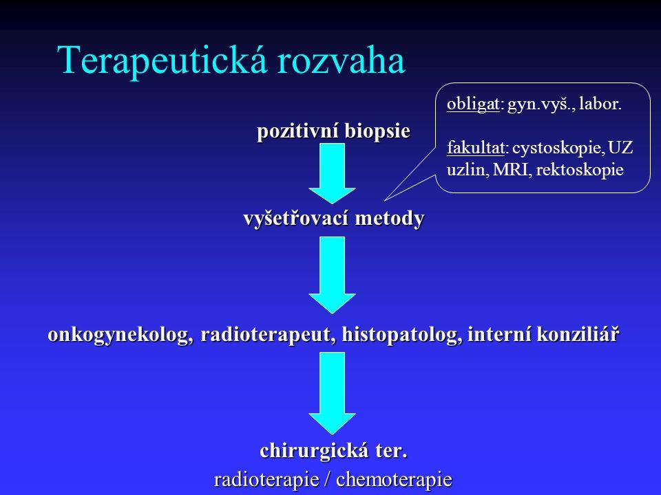 onkogynekolog, radioterapeut, histopatolog, interní konziliář