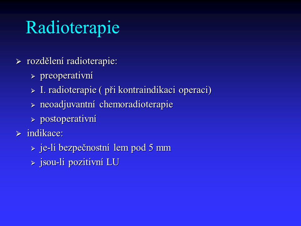 Radioterapie rozdělení radioterapie: preoperativní