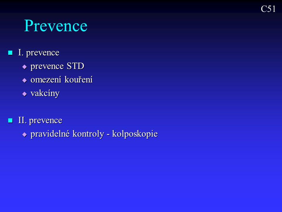 Prevence C51 I. prevence prevence STD omezení kouření vakcíny