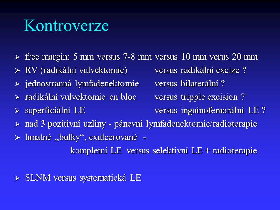 Kontroverze free margin: 5 mm versus 7-8 mm versus 10 mm verus 20 mm