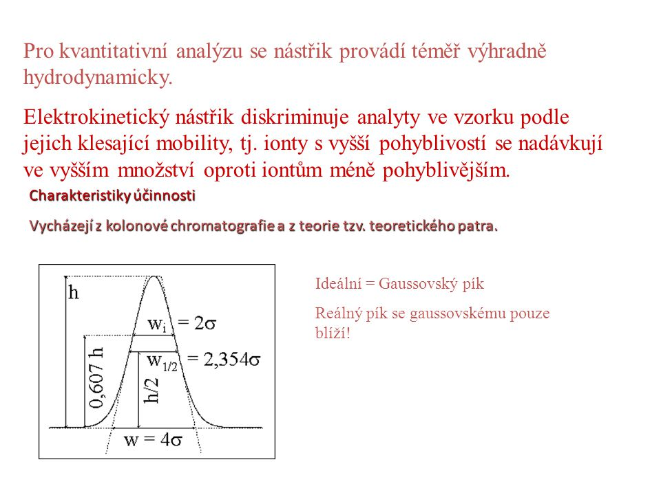 Pro kvantitativní analýzu se nástřik provádí téměř výhradně hydrodynamicky.