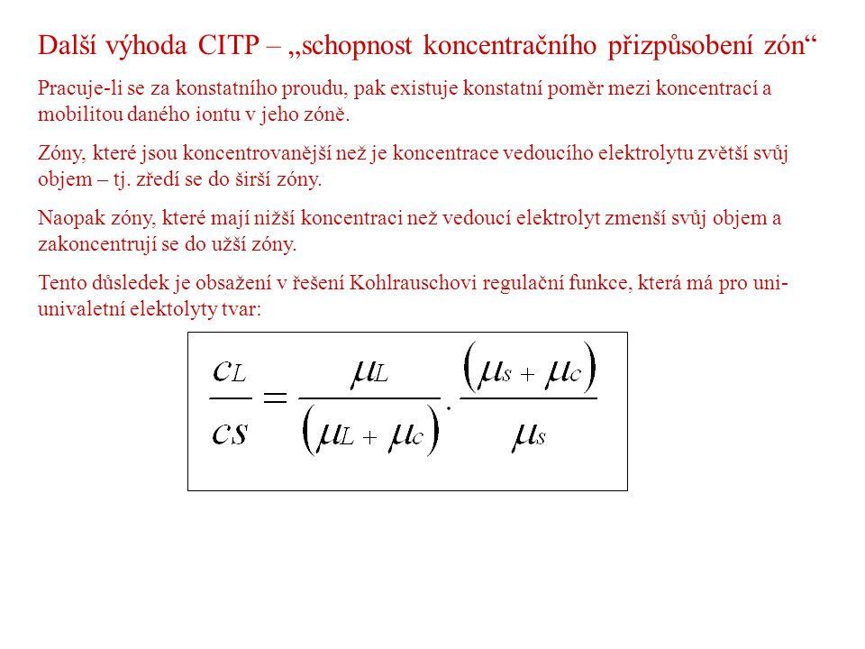 """Další výhoda CITP – """"schopnost koncentračního přizpůsobení zón"""