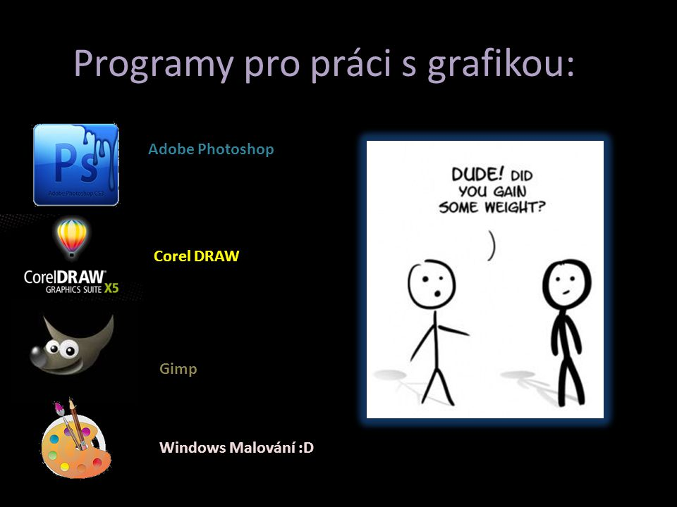 Programy pro práci s grafikou: