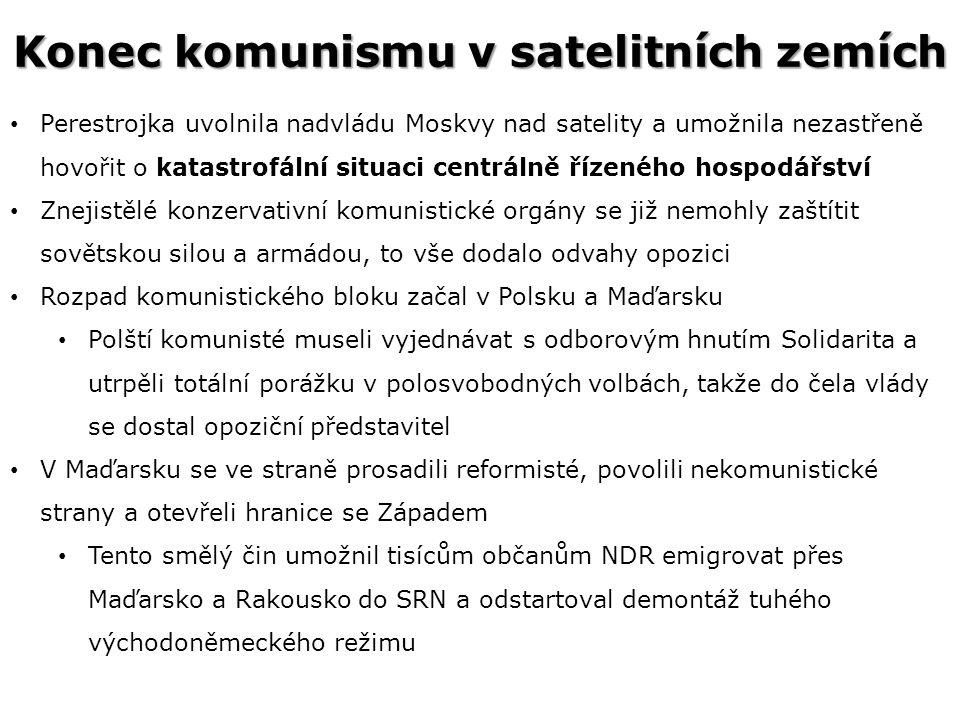 Konec komunismu v satelitních zemích