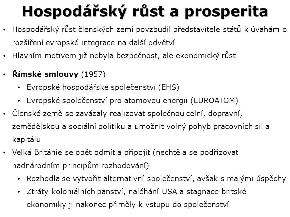Hospodářský růst a prosperita