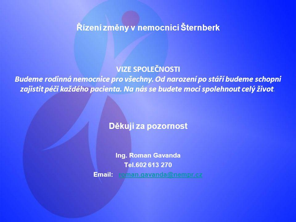Řízení změny v nemocnici Šternberk