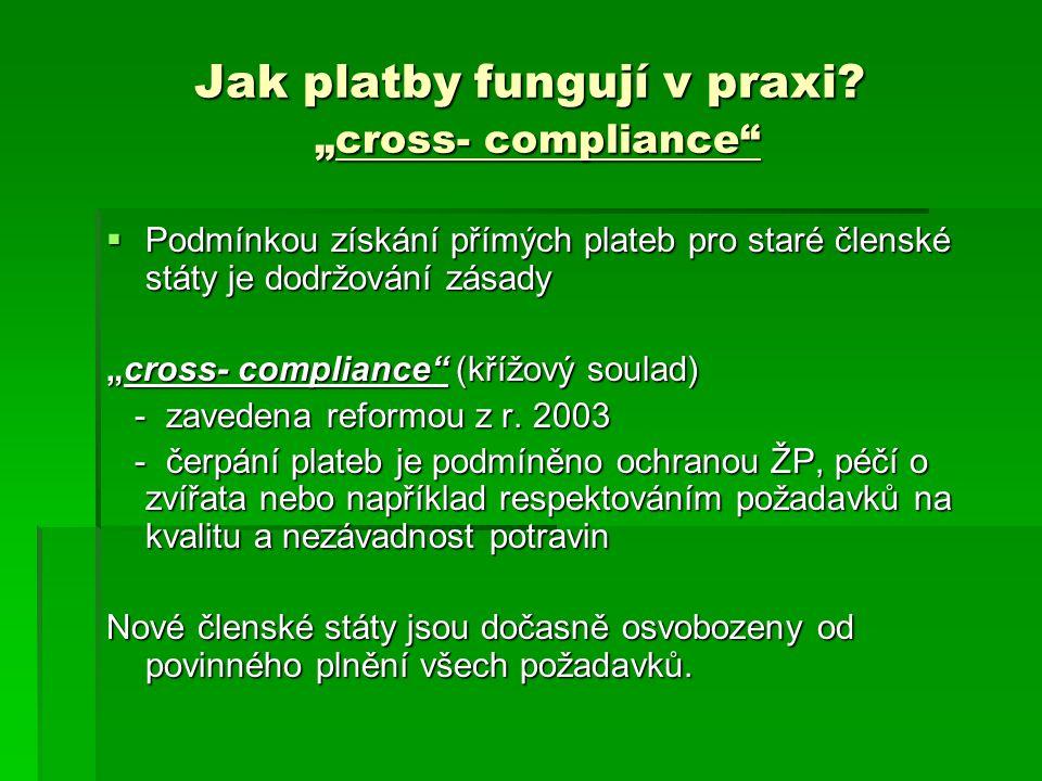 """Jak platby fungují v praxi """"cross- compliance"""