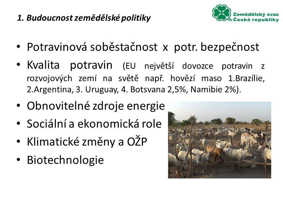 1. Budoucnost zemědělské politiky