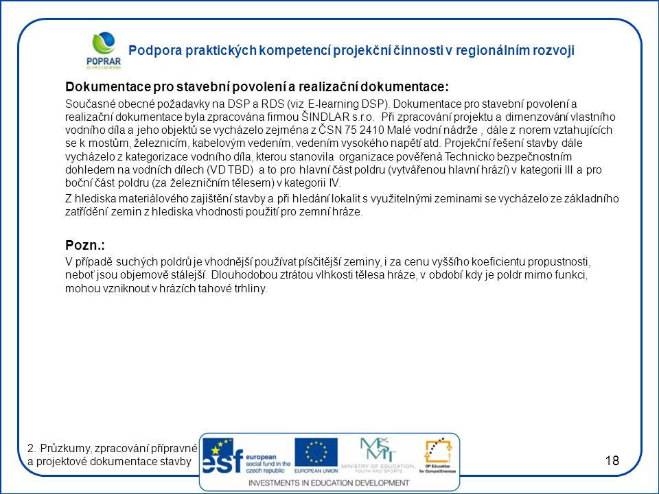 Dokumentace pro stavební povolení a realizační dokumentace: