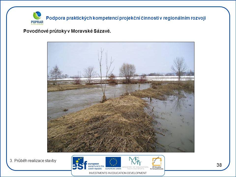 Povodňové průtoky v Moravské Sázavě.