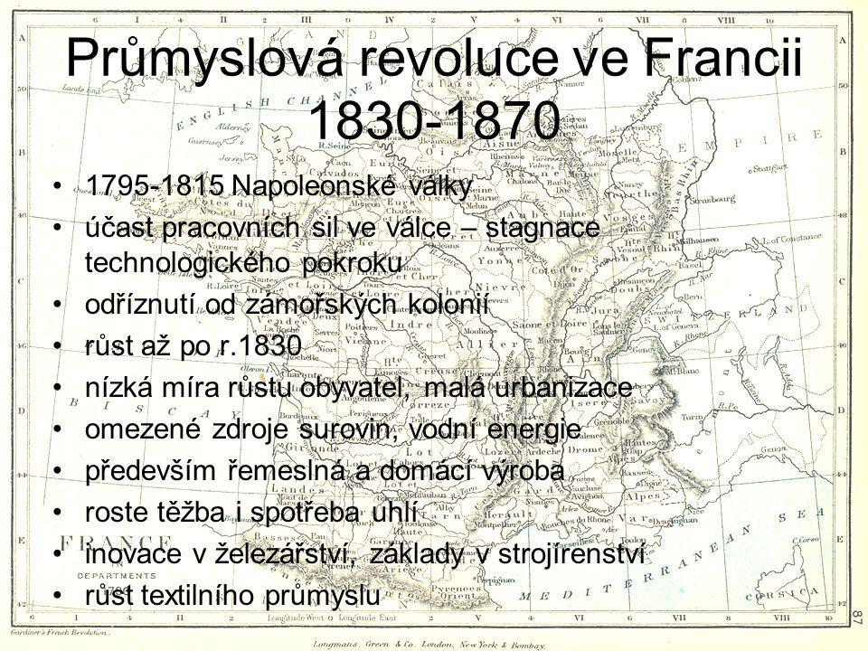 Průmyslová revoluce ve Francii 1830-1870