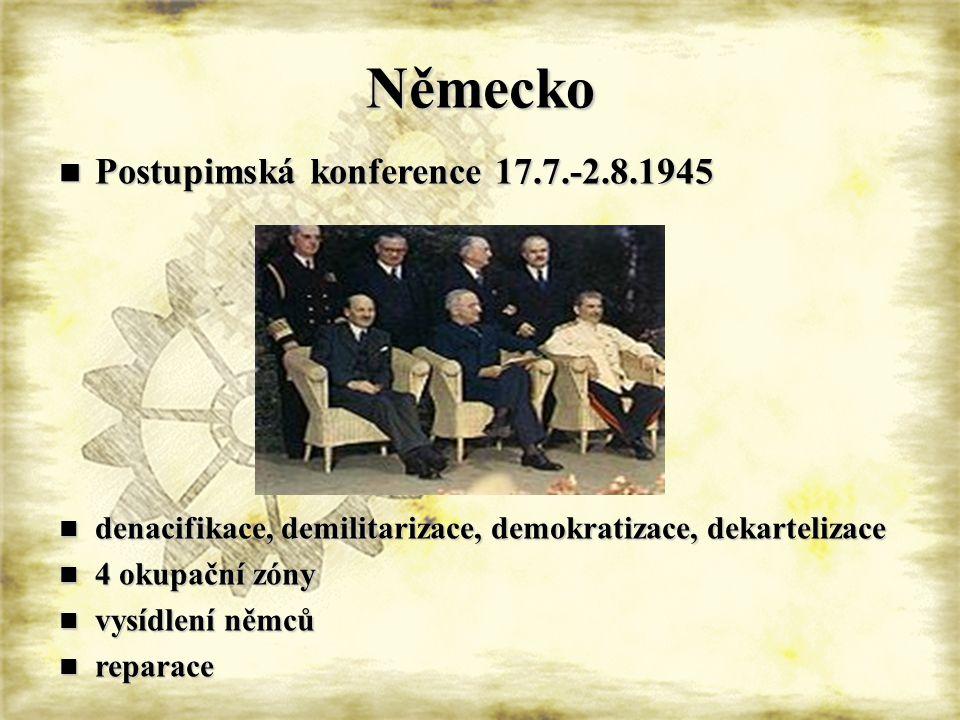 Německo Postupimská konference 17.7.-2.8.1945