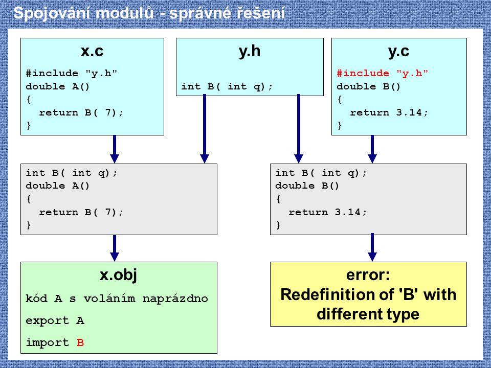 Spojování modulů - správné řešení