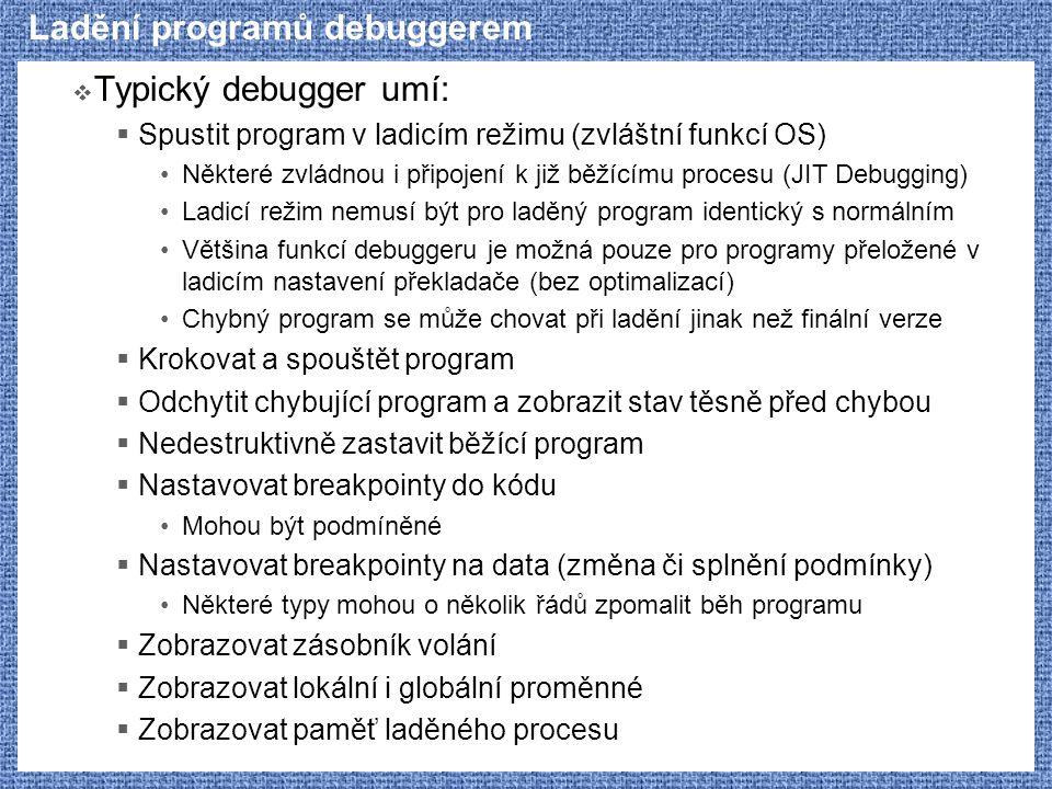 Ladění programů debuggerem