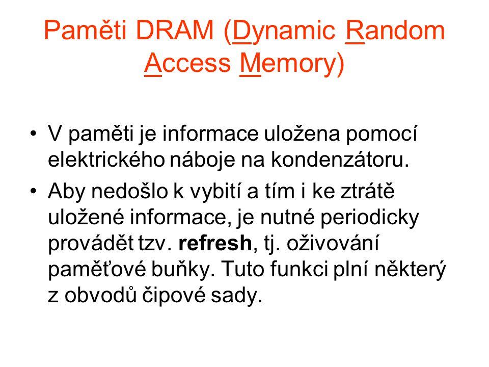 Paměti DRAM (Dynamic Random Access Memory)