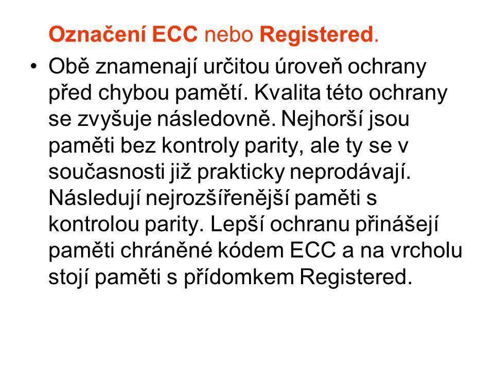 Označení ECC nebo Registered.