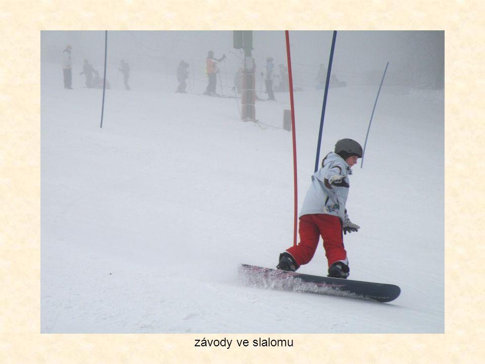 závody ve slalomu