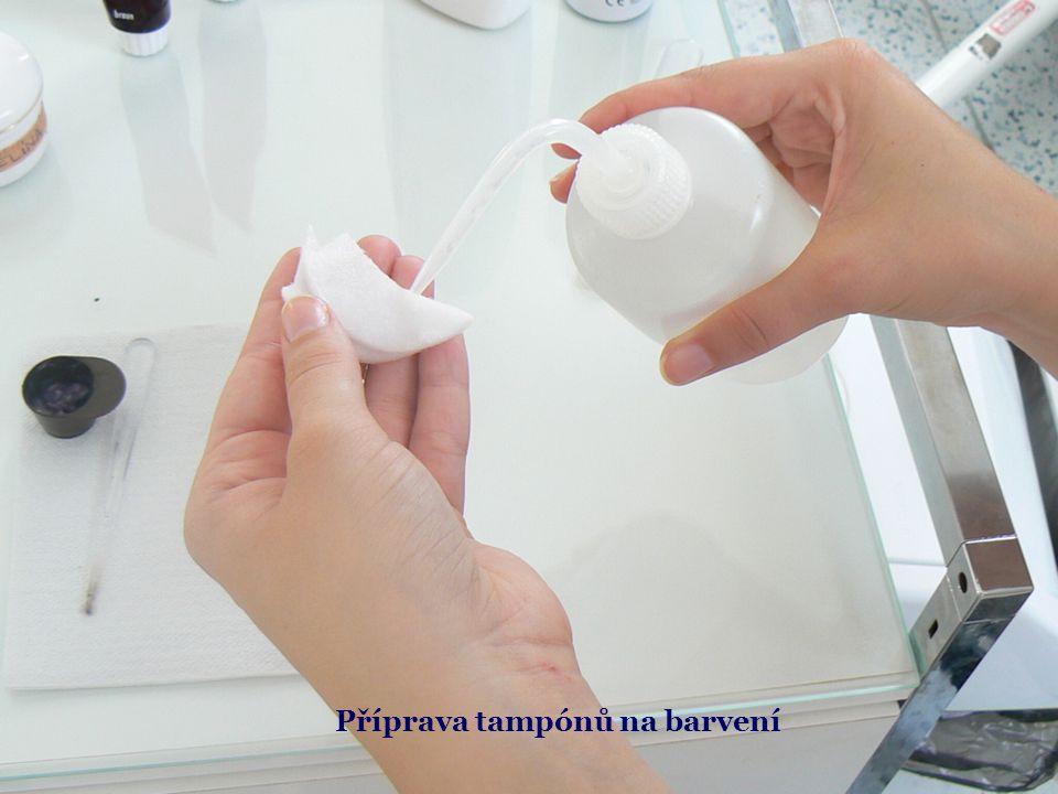 Příprava tampónů na barvení