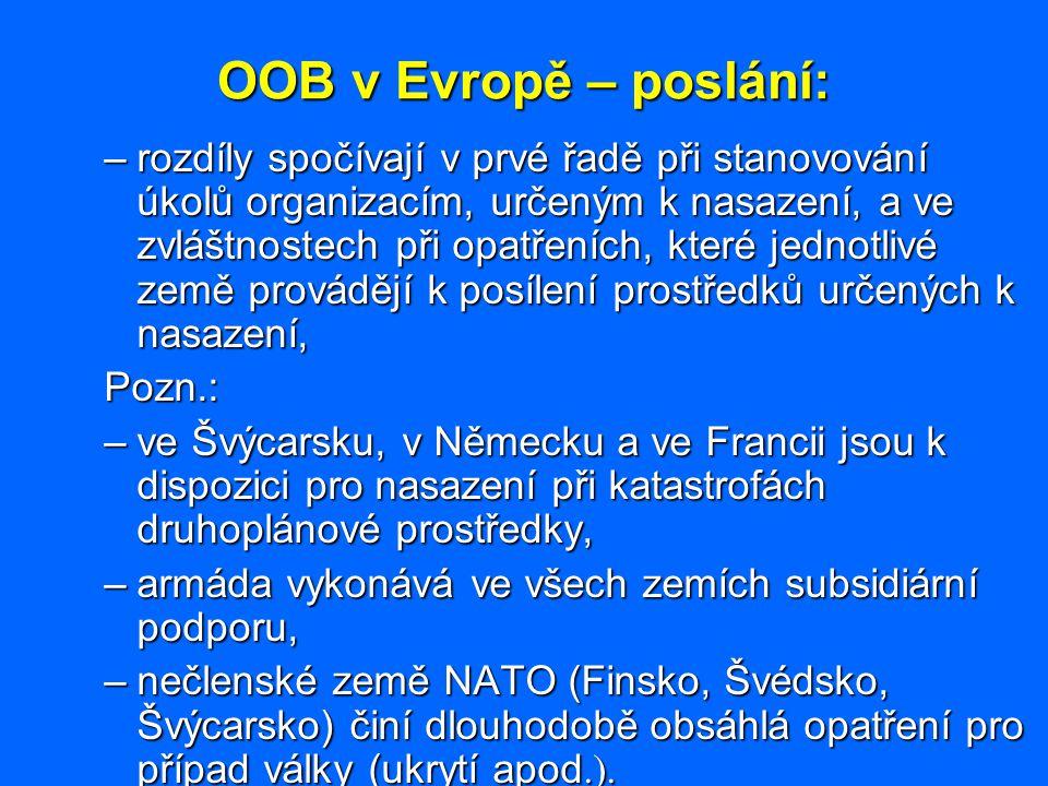 OOB v Evropě – poslání: