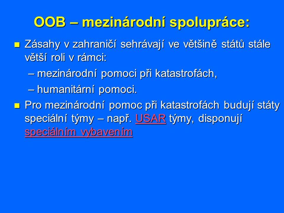 OOB – mezinárodní spolupráce: