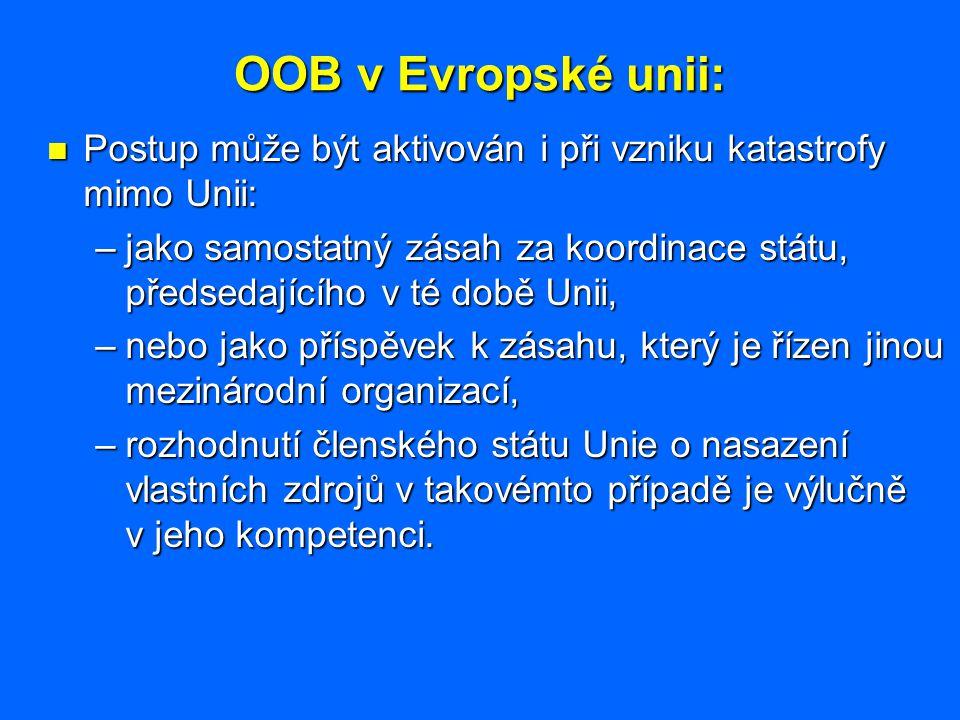 OOB v Evropské unii: Postup může být aktivován i při vzniku katastrofy mimo Unii: