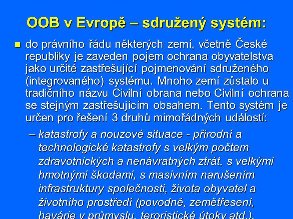 OOB v Evropě – sdružený systém:
