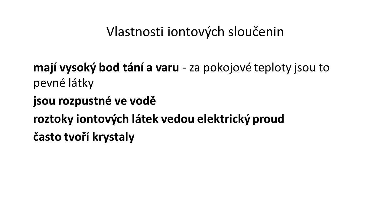 Vlastnosti iontových sloučenin