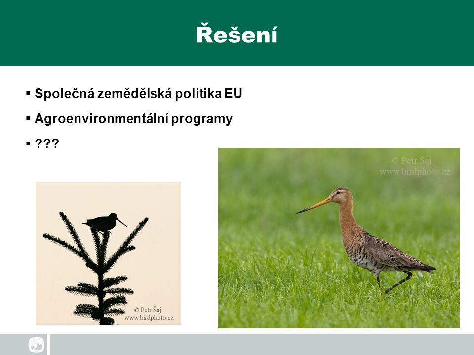 Řešení Společná zemědělská politika EU Agroenvironmentální programy