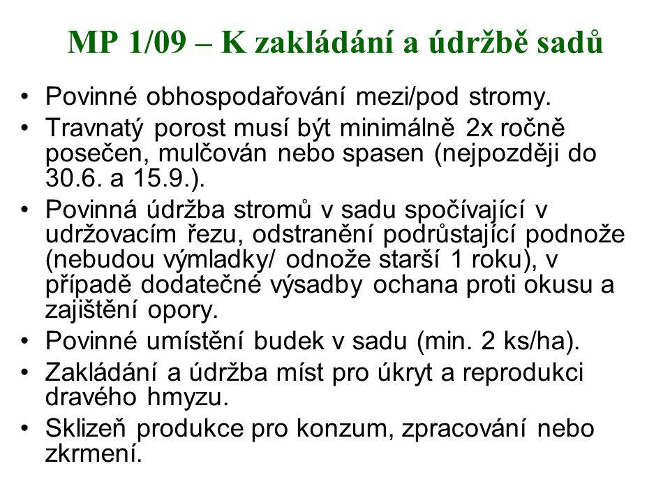 MP 1/09 – K zakládání a údržbě sadů